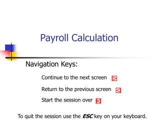 Payroll Calculation