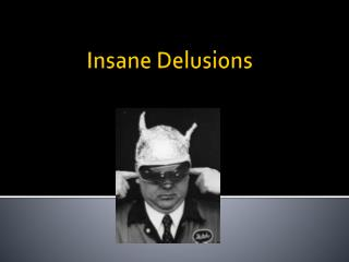 Insane Delusions