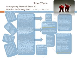 Side Effects Investigating Research Ethics in Visual & Performing Arts   	 Matt Hargrave & Sylvia Ellis