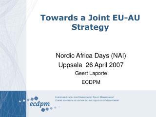 Towards a Joint EU-AU Strategy
