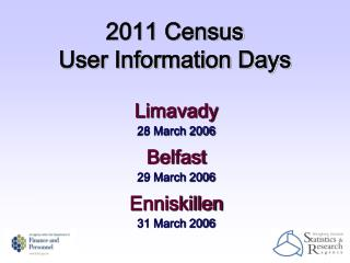 2011 Census User Information Days