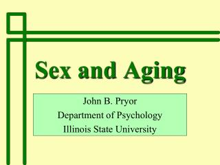 Sex and Aging
