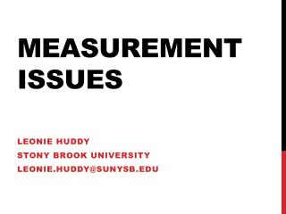 MEASUREMENT ISSUES
