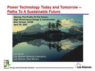 Power Technology Today and Tomorrow --Paths To A Sustainable Future