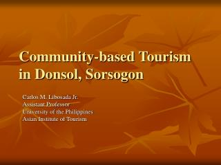 Community-based Tourism in Donsol, Sorsogon