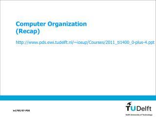 Computer Organization (Recap)