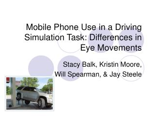 Mobile Phone Use in a Driving Simulation Task: Differences in Eye Movements
