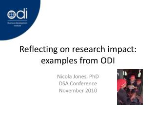 Reflecting on research impact: examples from ODI