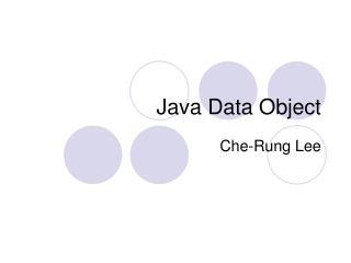 Java Data Object