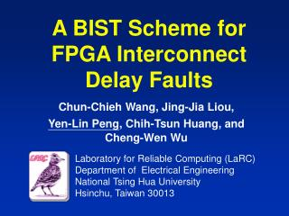 A BIST Scheme for FPGA Interconnect Delay Faults