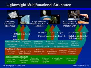 Lightweight Multifunctional Structures