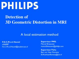 Detection of  3D Geometric Distortion in MRI