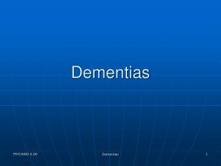 Dementias