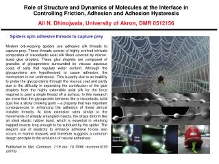 Spiders spin adhesive threads to capture prey