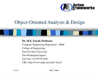 Object-Oriented Analysis  Design