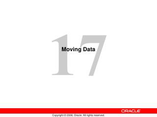 Moving Data