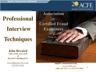 www.ACFE.com  (800) 245-3321 / +1 (512) 478-9000
