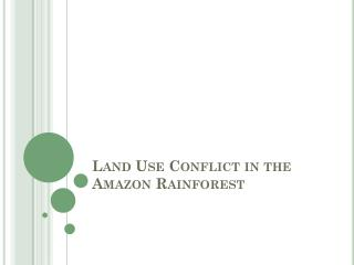 Land Use Conflict in the Amazon Rainforest