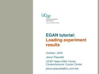 EGAN tutorial: Loading experiment results