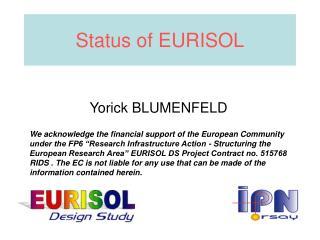 Status of EURISOL