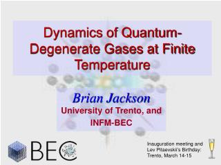 Dynamics of Quantum-Degenerate Gases at Finite Temperature