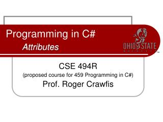 Programming in C# Attributes