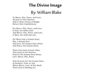 The Divine Image By: William Blake