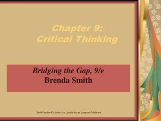 Chapter 9:  Critical Thinking