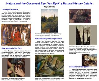 Nature and the Observant Eye: Van Eyck ' s Natural History Details