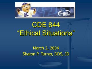 CDE 844 �Ethical Situations�