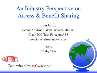 An Industry Perspective on Access & Benefit Sharing