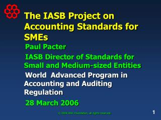 The IASB Project on Accounting Standards for SMEs