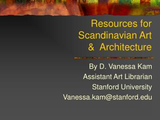 Resources for Scandinavian Art  Architecture