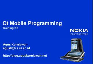 Qt  Mobile Programming Training Kit