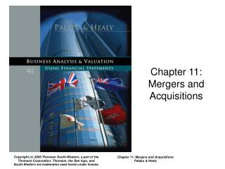 Chapter 11:  Mergers and Acquisitions