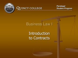 Business Law I Introduction to Contracts