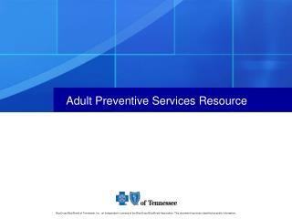 Adult Preventive Services Resource