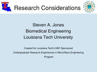 Research Considerations