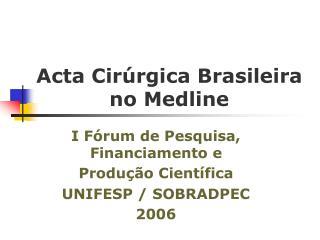 Acta Cir