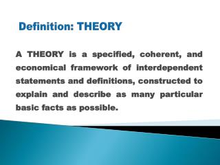 Definition: THEORY