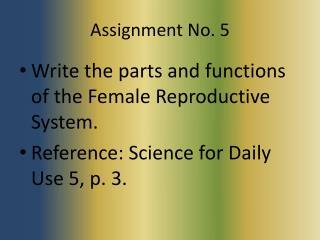 Assignment No. 5