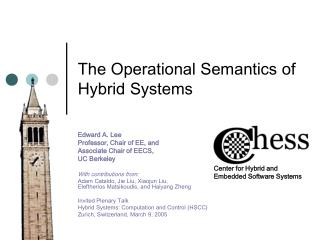 The Operational Semantics of Hybrid Systems