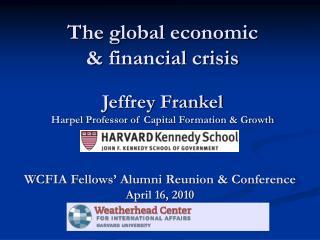 Jeffrey Frankel Harpel Professor of Capital Formation & Growth