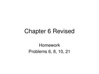 Chapter 6 Revised