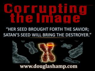 """Her seed brought forth the  Savior; Satan's seed will bring the  Destroyer."""