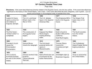 4 5 Post visit Parallel Time Lines Worksheet 4 5 C