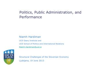 Politics, Public Administration, and Performance