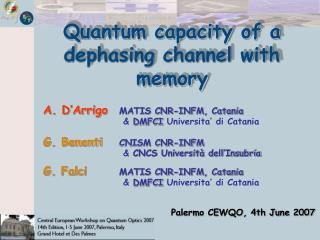 Quantum capacity of a dephasing channel with memory