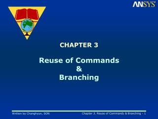 CHAPTER 3 Reuse of Commands & Branching