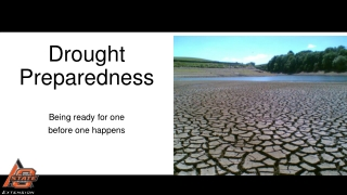 Management Options  During Drought